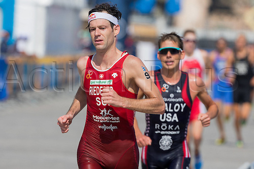 05.03.2016. Abu Dhabi, UAE. 2016 ITU Abu Dhabi World Triathlon.  Sven Riederer,  (sui)
