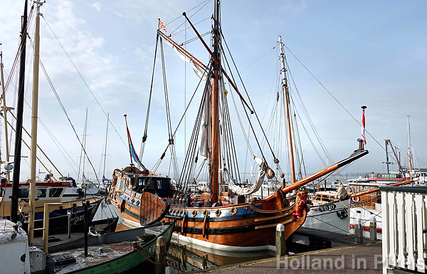 Nederland - Volendam - 2018.  Het Statenjacht De Utrecht in de haven van Volendam.   Foto Berlinda van Dam / Hollandse Hoogte