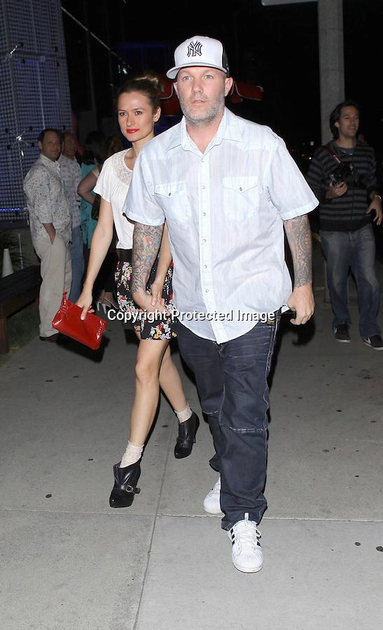 April 27th 2011 ..Fred Durst and wife Adriana leaving BOA restaurant in Los Angeles ..AbilityFilms@yahoo.com.805-427-3519.www.AbilityFilms.com.