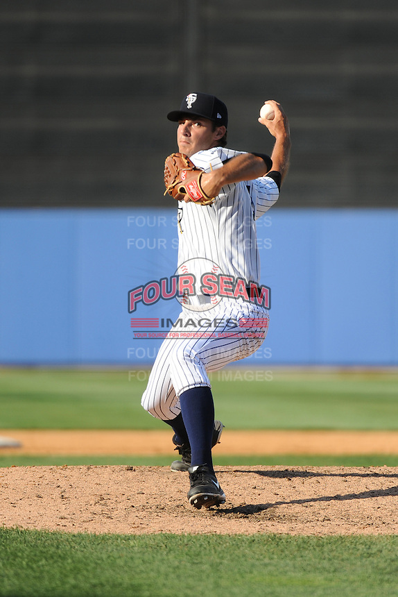 Staten Island Yankees pitcher Dillon McNamara (54) during game against the Connecticut Tigers at Richmond County Bank Ballpark at St.George on July 7, 2013 in Staten Island, NY.  Staten Island defeated Connecticut 6-2.  (Tomasso DeRosa/Four Seam Images)