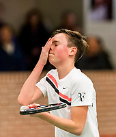 Wateringen, The Netherlands, March 14, 2018,  De Rhijenhof , NOJK 14/18 years, Youp De Kroon ( NED)<br /> Photo: www.tennisimages.com/Henk Koster