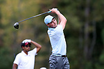 CHAPEL HILL, NC - OCTOBER 07: UNC's Ben Griffin on the 4th tee. The second round of the Tar Heel Intercollegiate Men's Golf Tournament was held on October 7, 2017, at the UNC Finley Golf Course in Chapel Hill, NC.