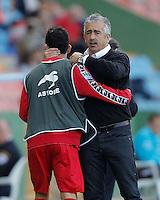 7.06.2012 Playa del Perello, Spain . Manolo Preciado, 54 years, died of a heart attack