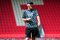 Oli McBurnie of Swansea City arrives for the pre season friendly match between Exeter City and Swansea City at St James Park in Exeter, England, UK. Saturday, 20 July 2019