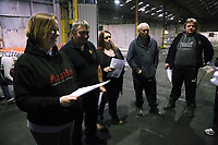 """We Are Still Here"" rehearsal by the National Theatre Wales, in Port Talbot, Wales, UK. Thursday 24 August 2017"