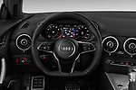 Car pictures of steering wheel view of a 2016 Audi TT-Coupe  2.0T-quattro-S-tronic 2 Door Coupe