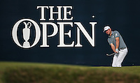 Bernd Wiesberger (AUT) chips to the pin on the last during Round One of the 145th Open Championship, played at Royal Troon Golf Club, Troon, Scotland. 14/07/2016. Picture: David Lloyd | Golffile.<br /> <br /> All photos usage must carry mandatory copyright credit (&copy; Golffile | David Lloyd)