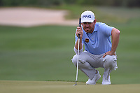Louis Oosthuizen (RSA) lines up his putt on 15 during day 3 of the WGC Dell Match Play, at the Austin Country Club, Austin, Texas, USA. 3/29/2019.<br /> Picture: Golffile | Ken Murray<br /> <br /> <br /> All photo usage must carry mandatory copyright credit (© Golffile | Ken Murray)