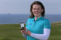 Clodagh Walsh (MU) ladies winner of the final of the Irish Students Amateur Open Championship, Tralee Golf Club, Tralee, Co Kerry, Ireland. 12/04/2018.<br /> Picture: Golffile | Fran Caffrey<br /> <br /> <br /> All photo usage must carry mandatory copyright credit (&copy; Golffile | Fran Caffrey)