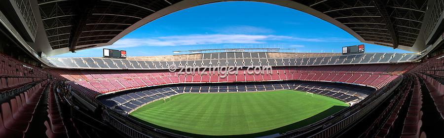Barcelona Spain Camp Nou Football Stadium, Panorama CGI Backgrounds, ,Beautiful Background