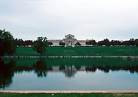 St. Louis: Art Museum from across the Lagoon. Forest Park. Cass Gilbert design, 1904.