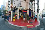 Bar e restaurante na esquina da rua Epitacio Pessoa com Bento Freitas, Sao Paulo. 2018. Foto © Juca Martins.
