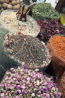United Arab Emirates, Dubai: The spice souk, detail of spices