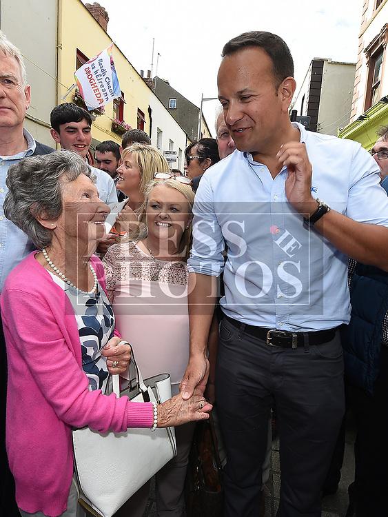 MB Burns meets An Taoiseach leo Varadkar at Fleadh Ceoil na hEireann. Photo:Colin Bell/pressphotos.ie