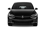 Car photography straight front view of a 2018 Tesla Model X 100D 5 Door SUV