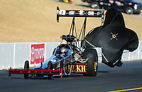 Jul. 16, 2010; Sonoma, CA, USA; NHRA top fuel dragster driver Larry Dixon during qualifying for the Fram Autolite Nationals at Infineon Raceway. Mandatory Credit: Mark J. Rebilas-
