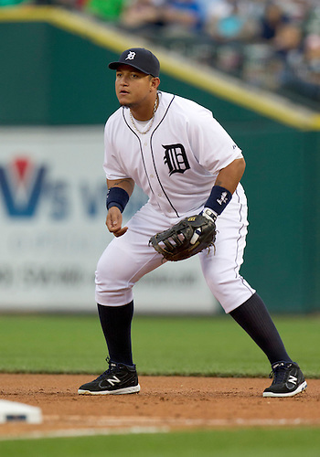 August 30, 2011:  Detroit Tigers first baseman Miguel Cabrera (#24) during MLB game action between the Kansas City Royals and the Detroit Tigers at Comerica Park in Detroit, Michigan.  The Tigers defeated the Royals 2-1.