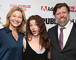 """Laurie Eustis, Kyle Brown and Oskar Eustis attends the """"Sea Wall / A Life"""" opening night at The Public Theater on February 14, 2019, in New York City."""