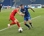 Dani Olmo (RB Leipzig) und Steven Zuber (TSG 1899 Hoffenheim)<br /> <br /> Sport: Fussball: LIGA: Saison 19/20: TSG 1899 <br /> Hoffenheim-RB Leipzig, 12.06.2020.<br /> <br /> Foto: RALF POLLER/AVANTI/POOL/PIX-Sportfotos<br /> <br /> Nur für journalistische Zwecke! Only for editorial use! <br /> Gemäß den Vorgaben der DFL Deutsche Fußball Liga ist es untersagt, in dem Stadion und/oder vom Spiel angefertigte Fotoaufnahmen in Form von Sequenzbildern und/oder videoähnlichen Fotostrecken zu verwerten bzw. verwerten zu lassen. DFL regulations prohibit any use of photographs as image sequences and/or quasi-video.