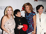 Kathie Lee Gifford, Liza Minnelli, Hoda Kotb and Kris Jenner attending the Broadway Opening Night Performance After Party for 'Scandalous The Musical' at the Neil Simon Theatre in New York City on 11/15/2012