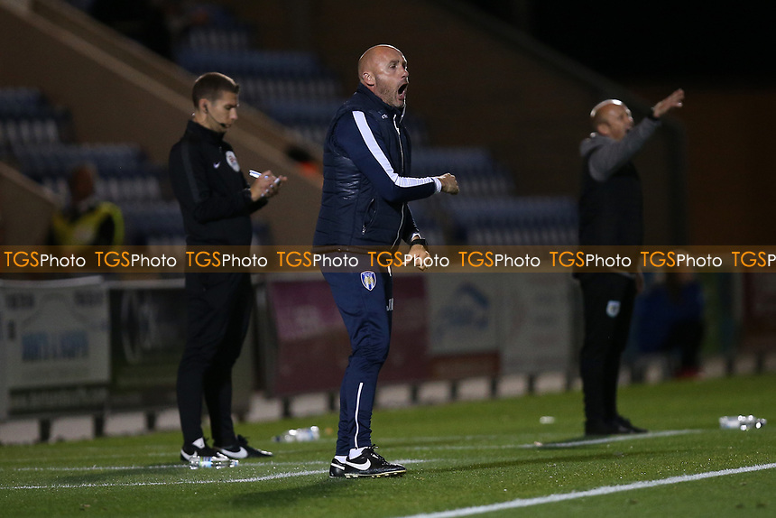 Colchester United manager John McGreal during Colchester United vs Yeovil Town, Sky Bet EFL League 2 Football at the JobServe Community Stadium on 2nd October 2018