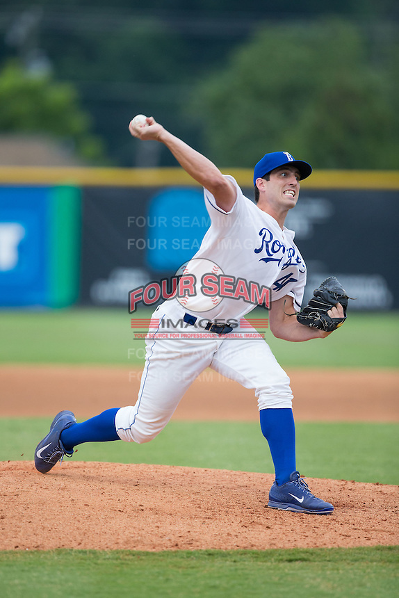 Burlington Royals pitcher Geoffrey Bramblett (41) in action against the Bluefield Blue Jays at Burlington Athletic Stadium on June 27, 2016 in Burlington, North Carolina.  The Royals defeated the Blue Jays 9-4.  (Brian Westerholt/Four Seam Images)
