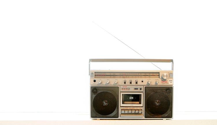 February 19, 2008; Santa Cruz, CA, USA; Isolated view of a retro cassette player boom box in Santa Cruz, CA. Photo by: Phillip Carter