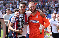 Bolton Wanderers Sammy Ameobi celebrating at the end of todays match<br />  <br /> Photographer Rachel Holborn/CameraSport<br /> <br /> The EFL Sky Bet Championship - Bolton Wanderers v Nottingham Forest - Sunday 6th May 2018 - Macron Stadium - Bolton<br /> <br /> World Copyright &copy; 2018 CameraSport. All rights reserved. 43 Linden Ave. Countesthorpe. Leicester. England. LE8 5PG - Tel: +44 (0) 116 277 4147 - admin@camerasport.com - www.camerasport.com