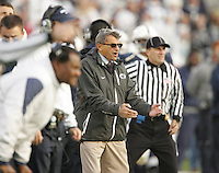 State College, PA - 11/06/2010:  Joe Paterno encourages his defensive unit to make a big play during the first half.  Despite trailing 21-0 in the first quarter, Penn State defeated Northwestern by a score of 35-21 at Beaver Stadium to give head coach Joe Paterno his 400th career victory...Photo:  Joe Rokita / JoeRokita.com..Photo ©2010 Joe Rokita Photography