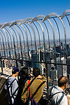 New York City, New York: Top of the Empire State Building.Photo #: ny290-15011  .Photo copyright Lee Foster, www.fostertravel.com, lee@fostertravel.com, 510-549-2202.