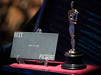 The Best Picture envelope during the live ABC telecast of the 90th Oscars&reg; at the Dolby&reg; Theatre in Hollywood, CA on Sunday, March 4, 2018.<br /> *Editorial Use Only*<br /> CAP/PLF/AMPAS<br /> Supplied by Capital Pictures
