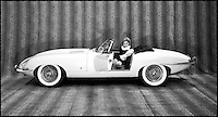 """BNPS.co.uk (01202 558833).Pic: GoogleImages..1960's advertising for the revolutionary E-Type.....Birth of a legend - rediscovered in a dusty old barn...One of the earliest E-Type Jaguars still in existance has been uncovered in a Somerset barn...Although not exactly in showroom condition the 1961 convertible was only the 59th E-Type to be built, and experts reckon it is one of only a handful to survive from the earliest days of the iconic British motor...The completely original car has been languishing in the barn near Bath for over 30 years after the running costs became to much for its owner...On its launch in 1961 even fierce rival Enzo Ferrari described the E-Type as """"the most beautiful car ever built"""" and they soon became celebrated for their sleek design and top speed of 150mph...Although this historic car has an estimate of £30,000 at auction it will take the proud new owner at least another£50,000 to restore it to its former glory - but then the almost unique car will be worth at least £120,000."""