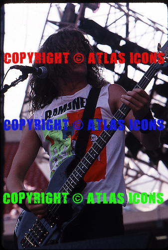 Metallica; Monsters of Rock Tour 1988.Photo Credit: Eddie Malluk/Atlas Icons.com.
