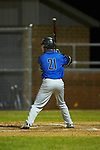 Scotty Diekman (21) of the Lake Norman Wildcats at bat against the Davie War Eagles at Davie County High School on March 7, 2018 in Mocksville, North Carolina.  The Wildcats defeated the War Eagles 12-0.  (Brian Westerholt/Four Seam Images)