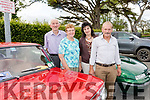 Taking part in the KVV&CCC 10th annual Vintage and Honda 50 run based at O'Rioada's last Friday evening in aid of Kerry Hospice, L-R Jim&Ann O'Shea, Listry with Veronica&Eugene O'Hanlon, Ballymac.