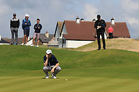 Ronan Mullarney (Galway) on the 3rd green during the Final of the AIG Irish Amateur Close Championship 2019 in Ballybunion Golf Club, Ballybunion, Co. Kerry on Wednesday 7th August 2019.<br /> <br /> Picture:  Thos Caffrey / www.golffile.ie<br /> <br /> All photos usage must carry mandatory copyright credit (© Golffile | Thos Caffrey)
