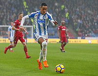 Huddersfield Town's Thomas Ince runs at the Swansea City defence<br /> <br /> Photographer Alex Dodd/CameraSport<br /> <br /> The Premier League - Huddersfield Town v Swansea City - Saturday 10th March 2018 - John Smith's Stadium - Huddersfield<br /> <br /> World Copyright &copy; 2018 CameraSport. All rights reserved. 43 Linden Ave. Countesthorpe. Leicester. England. LE8 5PG - Tel: +44 (0) 116 277 4147 - admin@camerasport.com - www.camerasport.com