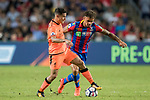 Crystal Palace player Michael Phillips (R) fights for the ball with Liverpool FC midfielder Philippe Coutinho (L) during the Premier League Asia Trophy match between Liverpool FC and Crystal Palace FC at Hong Kong Stadium on 19 July 2017, in Hong Kong, China. Photo by Yu Chun Christopher Wong / Power Sport Images