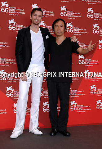 """ERIC BOSSICK AND SHINYA TSUKAMOTO.TETSUO THE BULLET MAN, at the  66th Venice Film Festival , Venice_05/09/2009.Mandatory Credit Photo: ©NEWSPIX INTERNATIONAL..**ALL FEES PAYABLE TO: """"NEWSPIX INTERNATIONAL""""**..IMMEDIATE CONFIRMATION OF USAGE REQUIRED:.Newspix International, 31 Chinnery Hill, Bishop's Stortford, ENGLAND CM23 3PS.Tel:+441279 324672  ; Fax: +441279656877.Mobile:  07775681153.e-mail: info@newspixinternational.co.uk"""