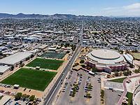 Vista aerea de Complejo deportivo de la Comisión Estatal de Deporte, CODESON en Hermosillo, Sonora....<br /> Estadio Héroe de Nacozari. <br /> CUM. <br /> Campos Deportivos de la Liga Oxxo.<br /> Boulevard o calle Periferico Norte.<br /> <br /> Photo: (NortePhoto / LuisGutierrez)<br /> <br /> ...<br /> keywords: