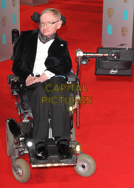 LONDON, ENGLAND - FEBRUARY 08: Professor Stephen Hawking attends the EE British Academy Film Awards at The Royal Opera House on February 8, 2015 in London, England<br /> CAP/ROS<br /> &copy;Steve Ross/Capital Pictures