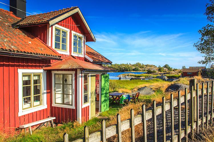Konstnären Axel Sjöbergs bostad på Långviksskär i Stockholms södra ytterskärgård.