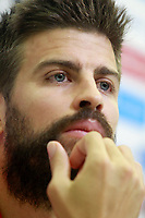 Spain's Gerard Pique in press conference after training session. October 4,2017.(ALTERPHOTOS/Acero)<br /> <br /> Foto Alterphotos / Insidefoto <br /> ITALY ONLY