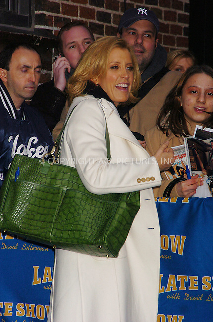 WWW.ACEPIXS.COM . . . . . ....January 5 2006, New York City....Desperate Housewives actress Felicity Huffman at the Late Show with David Letterman.....Please byline: AJ Sokalner - ACEPIXS.COM..... *** ***..Ace Pictures, Inc:  ..Philip Vaughan (212) 243-8787 or (646) 769 0430..e-mail: info@acepixs.com..web: http://www.acepixs.com