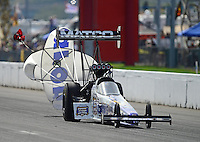 Sept. 30, 2012; Madison, IL, USA: NHRA top fuel dragster driver Antron Brown during the Midwest Nationals at Gateway Motorsports Park. Mandatory Credit: Mark J. Rebilas-