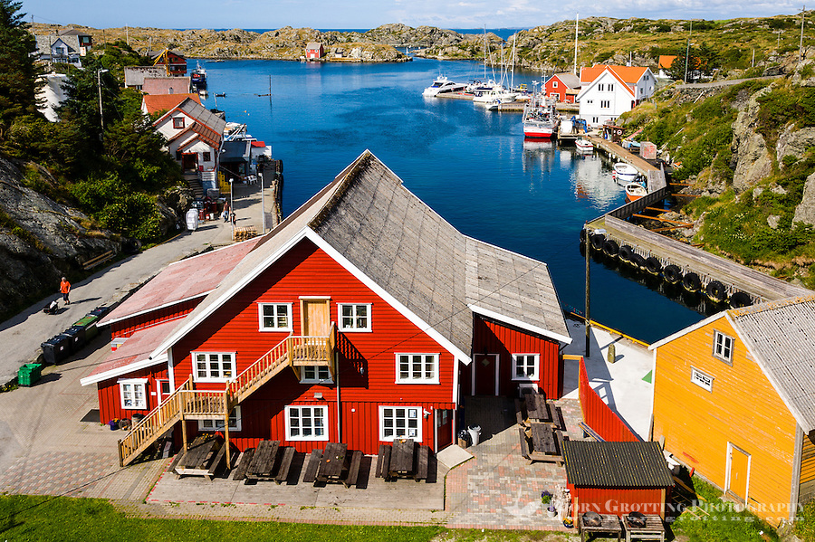 Norway, Haugesund. The small island of Røvær.