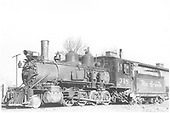 3/4 fireman's-side view of D&amp;RGW #318 near the Montrose engine house.<br /> D&amp;RGW  Montrose, CO  Taken by Payne, Andy M.