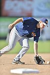 18 August 2012: Brooklyn Cyclones infielder Jeff Reynolds warms up prior to a game against the Vermont Lake Monsters at Centennial Field in Burlington, Vermont. The Lake Monsters defeated the Cyclones 4-1 in NY Penn League action. Mandatory Credit: Ed Wolfstein Photo
