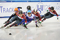 SHORT TRACK: TORINO: 14-01-2017, Palavela, ISU European Short Track Speed Skating Championships, Final A 1500m Men, Sjinkie Knegt (NED), Shaoang Liu (HUN), Semen Elistratov (RUS), Vladislav Bykanov (ISR), Viktor Knoch (HUN), Shaolin Sandor Liu (HUN), ©photo Martin de Jong