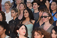 CANNES, FRANCE - MAY 12: Filmmakers read a statement on the steps of the palais in protest of the lack of female filmmakers honoured throughout the history of the festival at the screening of 'Girls Of The Sun (Les Filles Du Soleil)' during the 71st annual Cannes Film Festival at Palais des Festivals on May 12, 2018 in Cannes, France.<br /> CAP/PL<br /> &copy;Phil Loftus/Capital Pictures